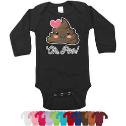 Poop Emoji Long Sleeves Bodysuit - 12 Colors (Personalized)