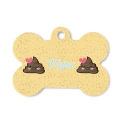 Poop Emoji Bone Shaped Dog Tag (Personalized)