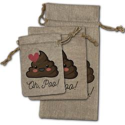 Poop Emoji Burlap Gift Bags (Personalized)