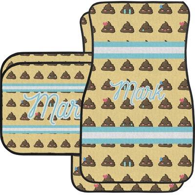 Poop Emoji Car Floor Mats (Personalized)