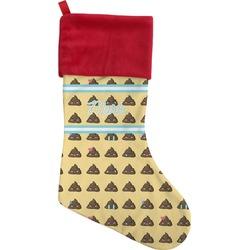 Poop Emoji Christmas Stocking (Personalized)