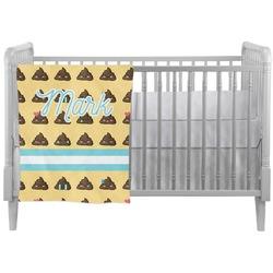 Poop Emoji Crib Comforter / Quilt (Personalized)