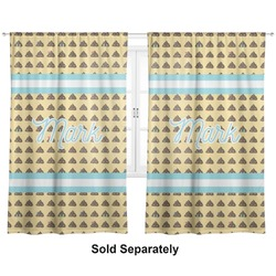 "Poop Emoji Curtains - 40""x54"" Panels - Unlined (2 Panels Per Set) (Personalized)"