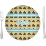 """Poop Emoji Glass Lunch / Dinner Plates 10"""" - Single or Set (Personalized)"""