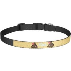 Poop Emoji Dog Collar - Large (Personalized)