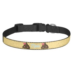 Poop Emoji Dog Collar - Multiple Sizes (Personalized)