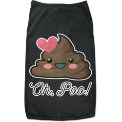 Poop Emoji Black Pet Shirt (Personalized)