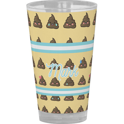 Poop Emoji Drinking / Pint Glass (Personalized)