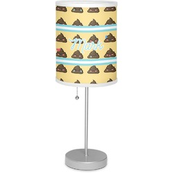 "Poop Emoji 7"" Drum Lamp with Shade (Personalized)"