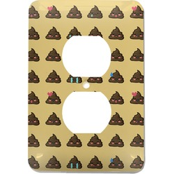 Poop Emoji Electric Outlet Plate (Personalized)