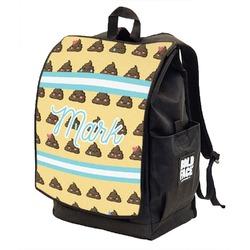 Poop Emoji Backpack w/ Front Flap  (Personalized)
