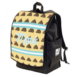 Poop Emoji Backpack w/ Front Flap  (Personalized)