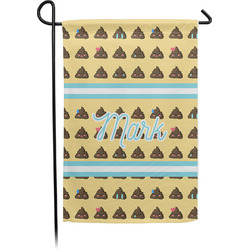 Poop Emoji Garden Flag - Single or Double Sided (Personalized)