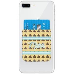 Poop Emoji Genuine Leather Adhesive Phone Wallet (Personalized)