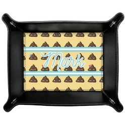 Poop Emoji Genuine Leather Valet Tray (Personalized)