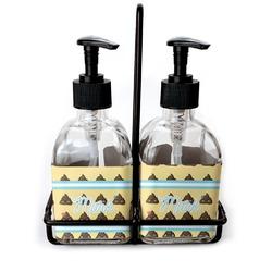 Poop Emoji Soap & Lotion Dispenser Set (Glass) (Personalized)