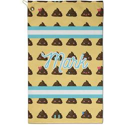 Poop Emoji Golf Towel - Full Print - Small w/ Name or Text