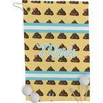 Poop Emoji Golf Towel - Full Print (Personalized)