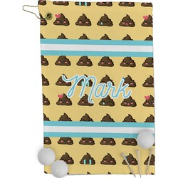 Poop Emoji Golf Towel - Full Print (Personalized)
