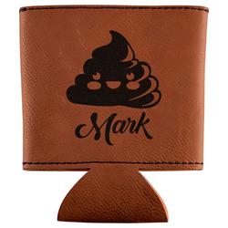 Poop Emoji Leatherette Can Sleeve (Personalized)