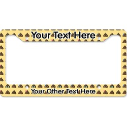Poop Emoji License Plate Frame (Personalized)