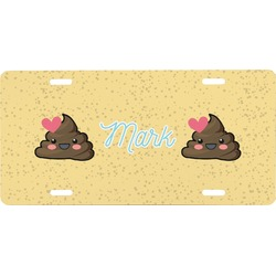 Poop Emoji Front License Plate (Personalized)