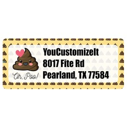 Poop Emoji Return Address Labels (Personalized)