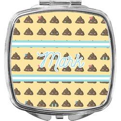 Poop Emoji Compact Makeup Mirror (Personalized)