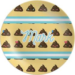 """Poop Emoji Melamine Plate - 8"""" (Personalized)"""