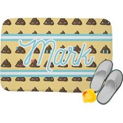 "Poop Emoji Memory Foam Bath Mat - 34""x21"" (Personalized)"
