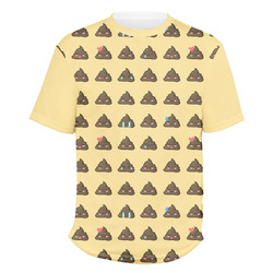 Poop Emoji Men's Crew T-Shirt (Personalized)