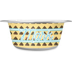 Poop Emoji Stainless Steel Dog Bowl (Personalized)