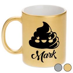 Poop Emoji Metallic Mug (Personalized)