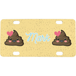 Poop Emoji Mini / Bicycle License Plate (Personalized)