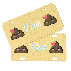 Poop Emoji Mini/Bicycle License Plates (Personalized)