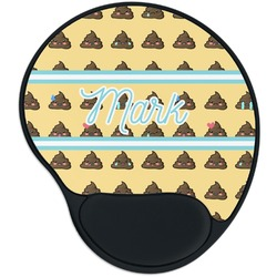 Poop Emoji Mouse Pad with Wrist Support