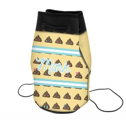 Poop Emoji Neoprene Drawstring Backpack (Personalized)