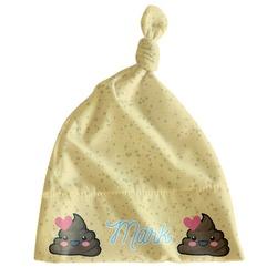 Poop Emoji Newborn Hat - Knotted (Personalized)
