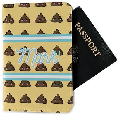 Poop Emoji Passport Holder - Fabric (Personalized)