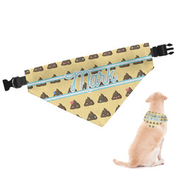 Poop Emoji Dog Bandana (Personalized)