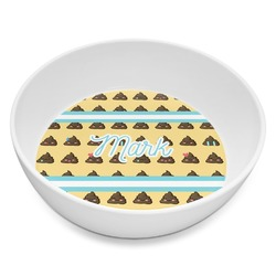 Poop Emoji Melamine Bowl 8oz (Personalized)