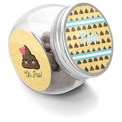 Poop Emoji Puppy Treat Jar (Personalized)