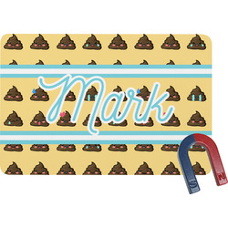 Poop Emoji Rectangular Fridge Magnet (Personalized)