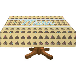 "Poop Emoji Tablecloth - 58""x102"" (Personalized)"