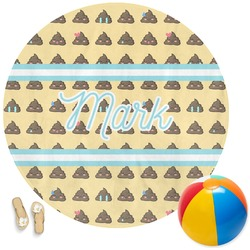 Poop Emoji Round Beach Towel (Personalized)