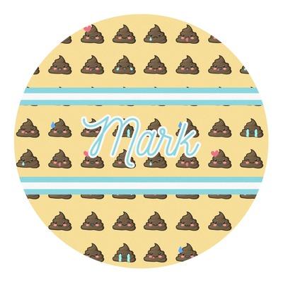 Poop Emoji Round Decal (Personalized)