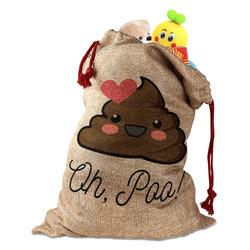 Poop Emoji Santa Sack (Personalized)
