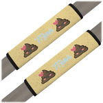 Poop Emoji Seat Belt Covers (Set of 2) (Personalized)