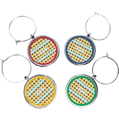 Poop Emoji Wine Charms (Set of 4) (Personalized)