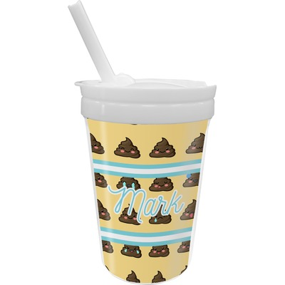 Poop Emoji Sippy Cup with Straw (Personalized)